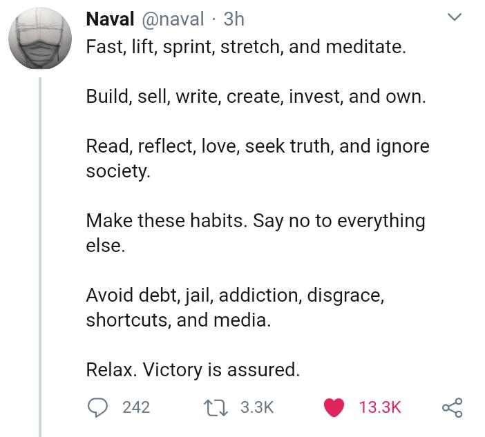 عادتهای خوب از نظر ناوال که کمیابی را درمان میکنند